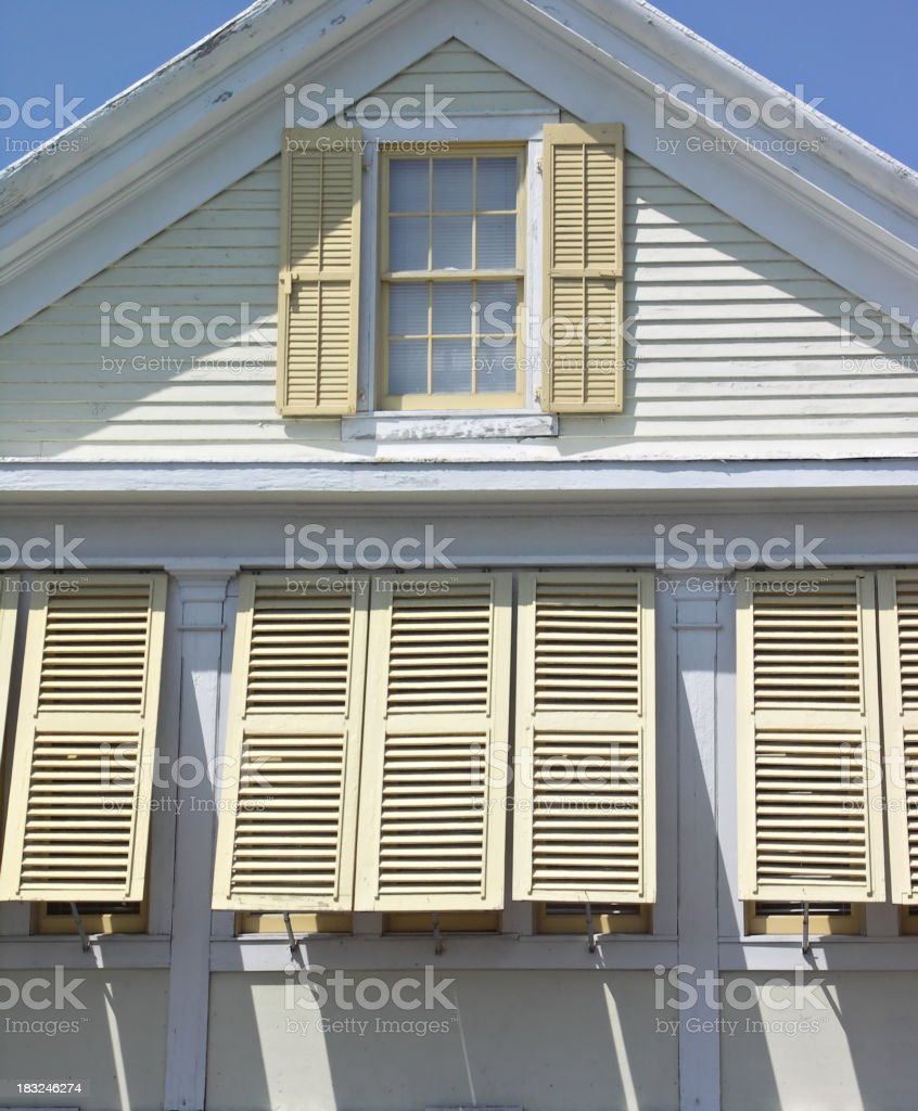 hurricane shutters royalty-free stock photo