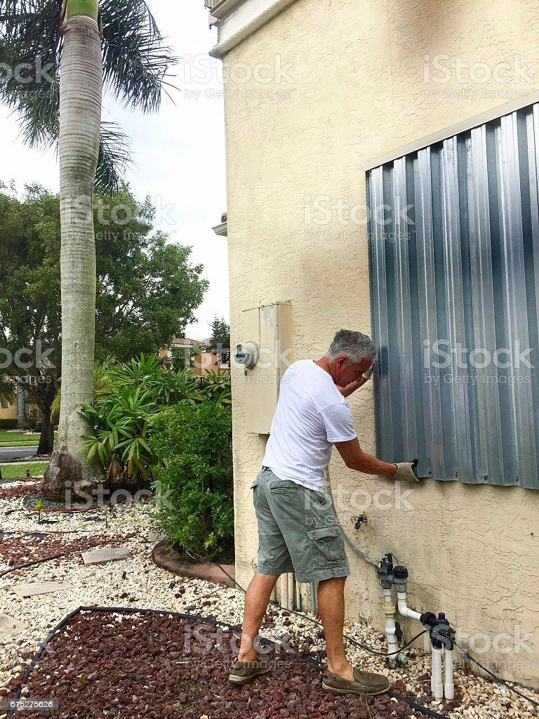 Hurricane Shutters stock photo