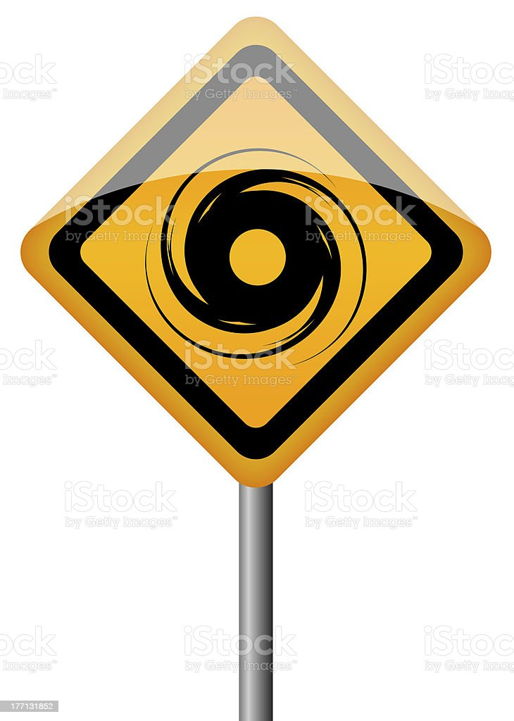 Hurricane sign royalty-free stock photo