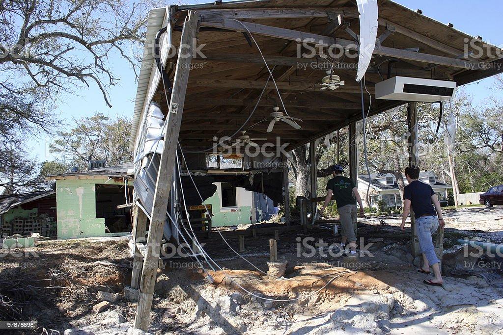 Hurricane Wreckage stock photo