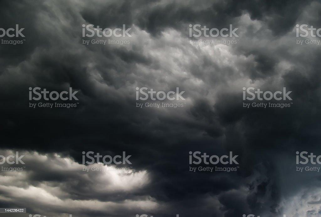 Hurry up, a tornado!!! royalty-free stock photo