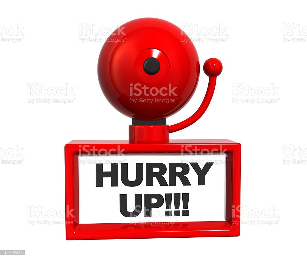Hurry Up Bell stock photo