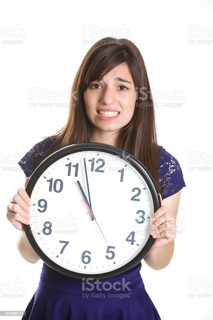 Hurry up stock photo