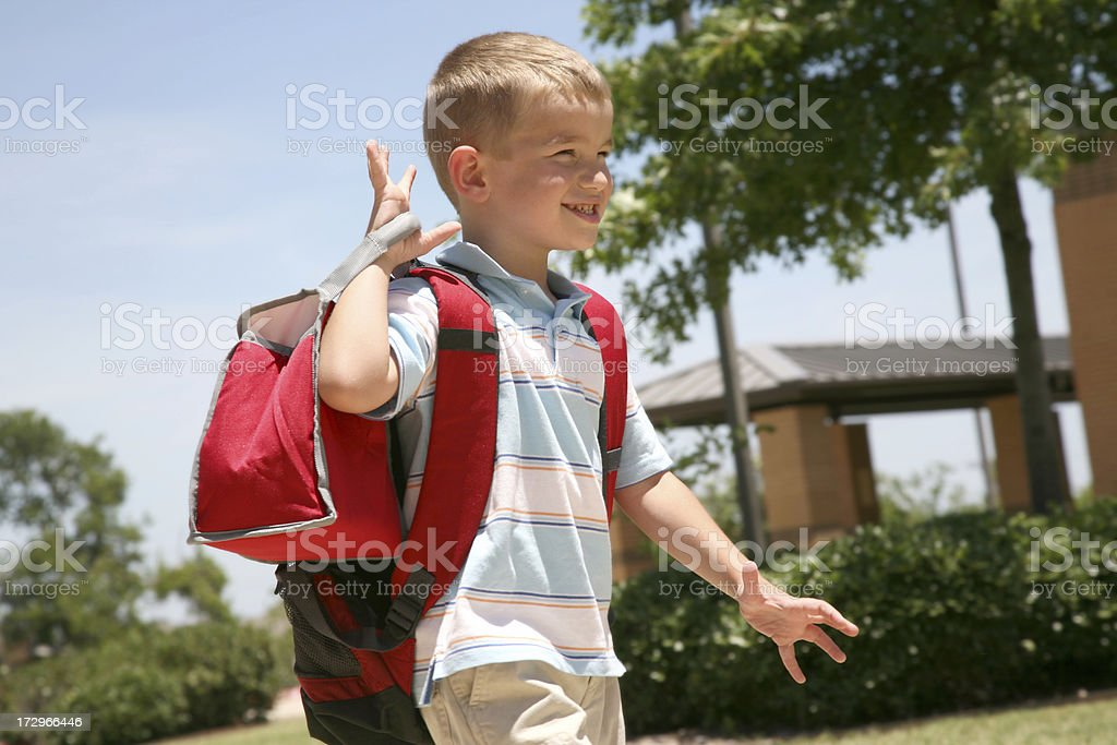 Hurrying to School royalty-free stock photo