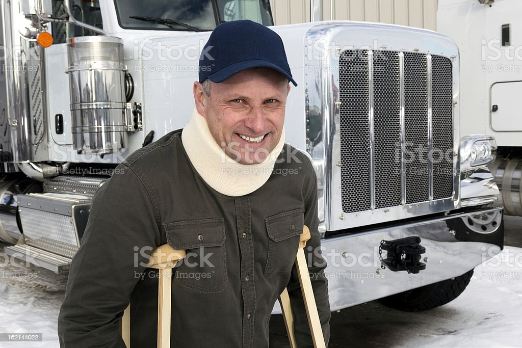 Hurt but Happy royalty-free stock photo
