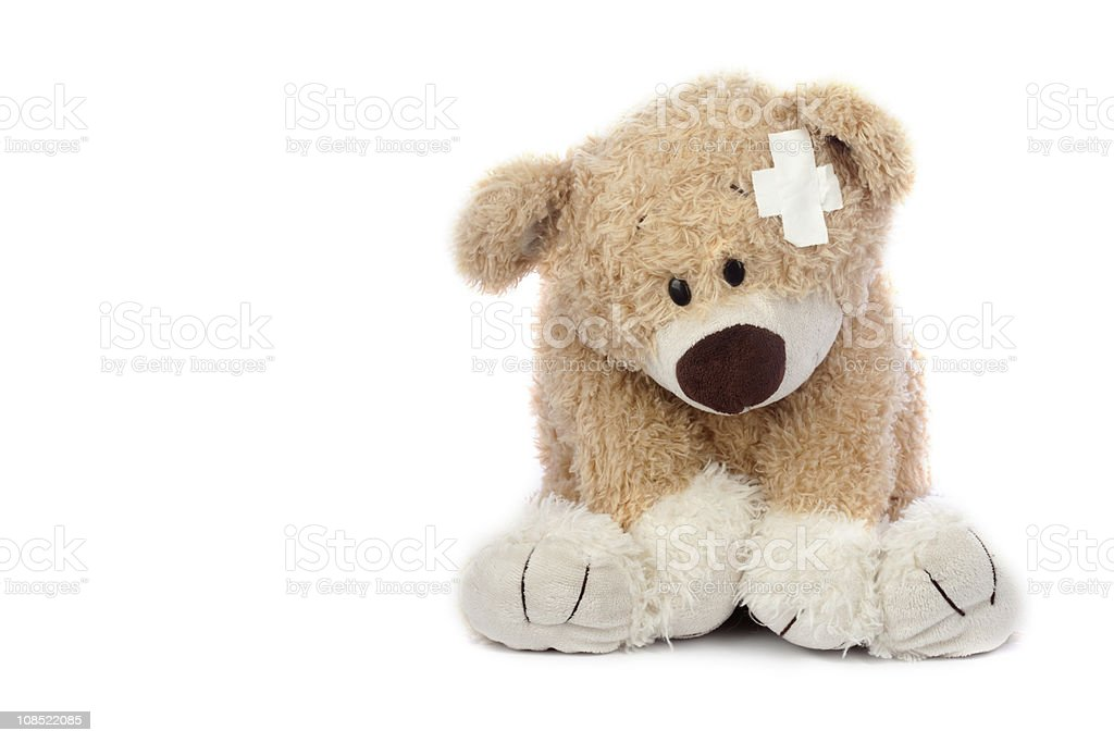 Hurt Teddy Bear royalty-free stock photo