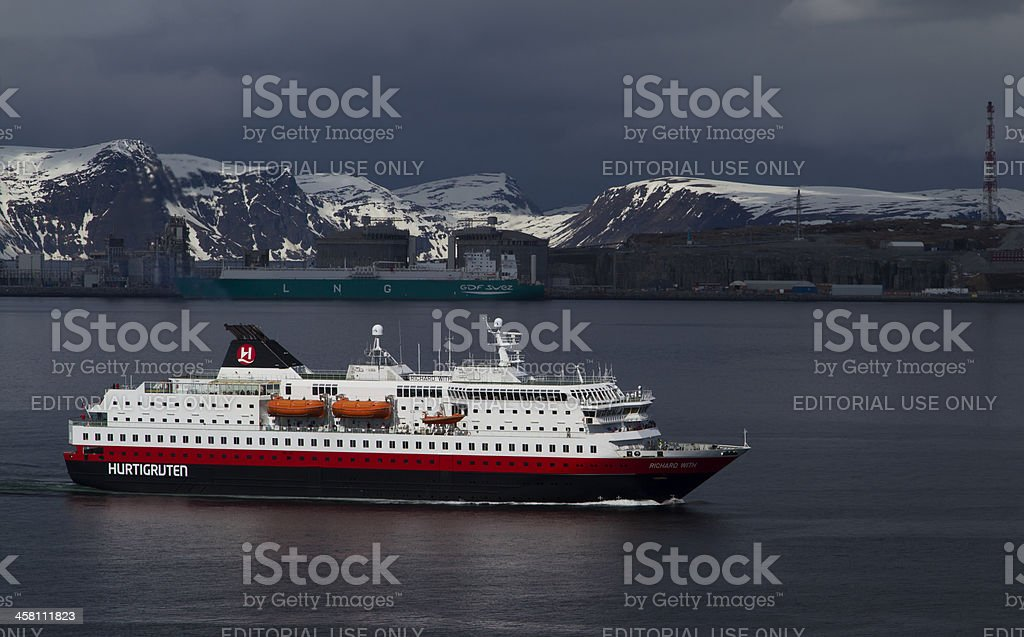 Hurtigruten. stock photo