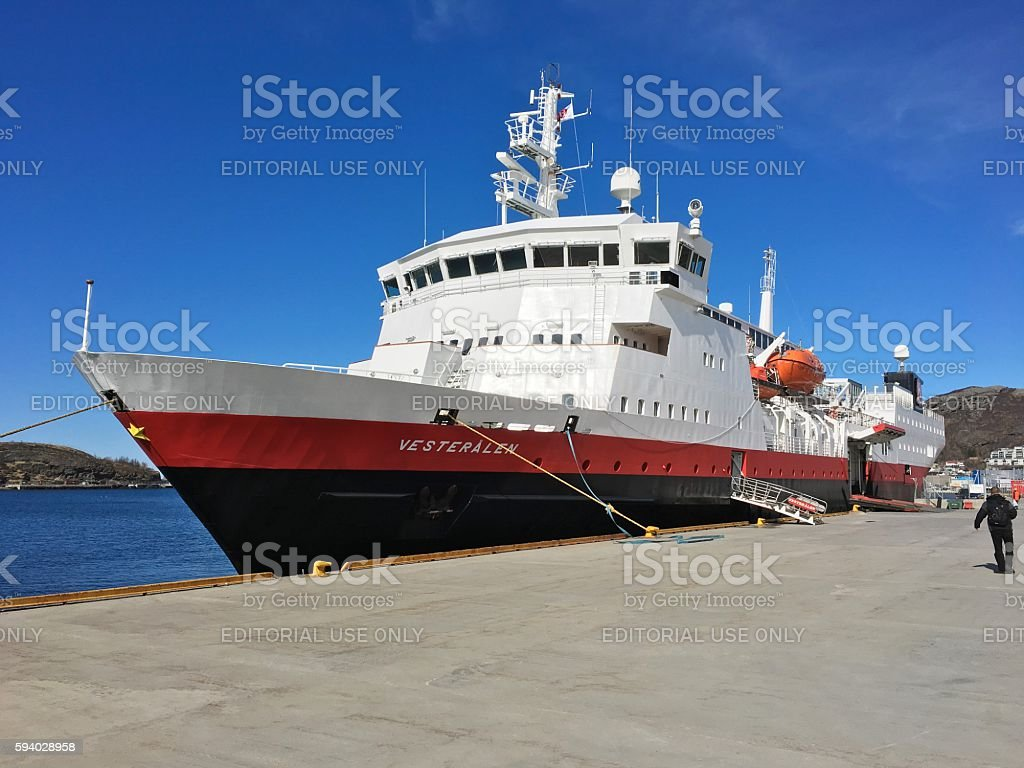 Hurtigruten ship in Bodø, Norway. photo libre de droits