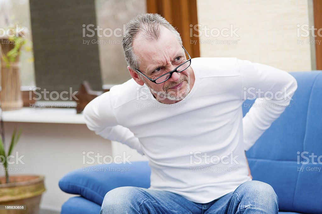 Hurting back stock photo