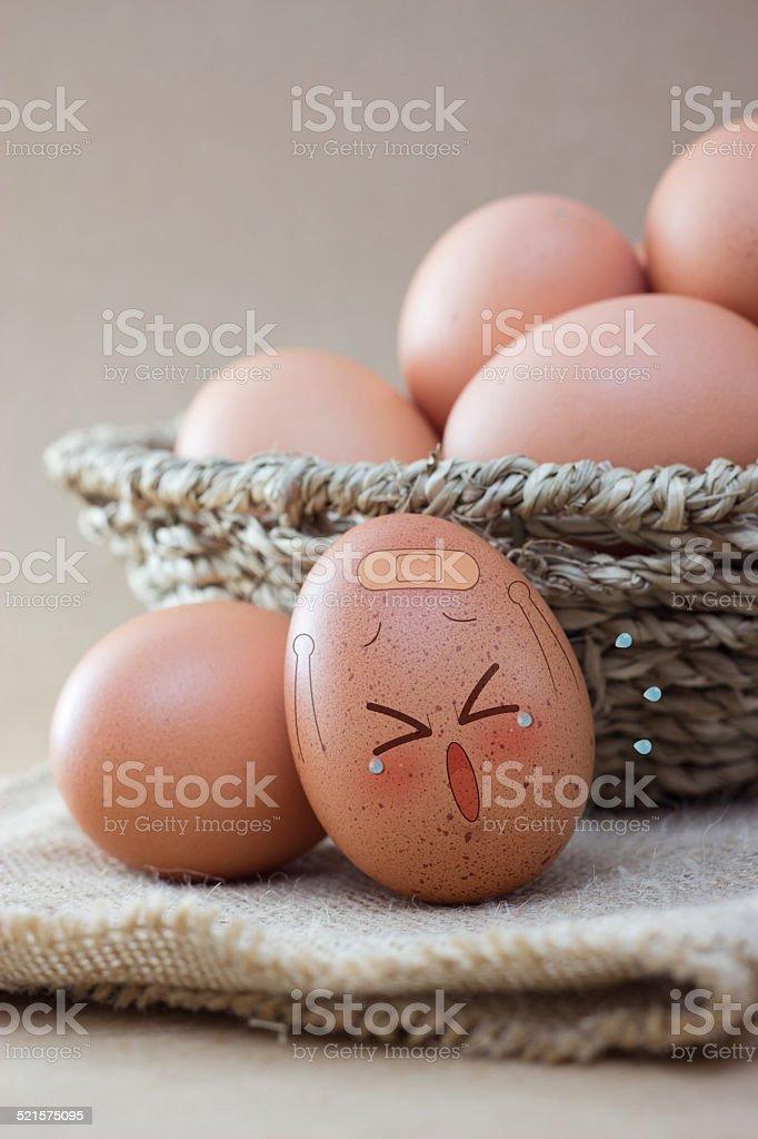 Hurts egg stock photo