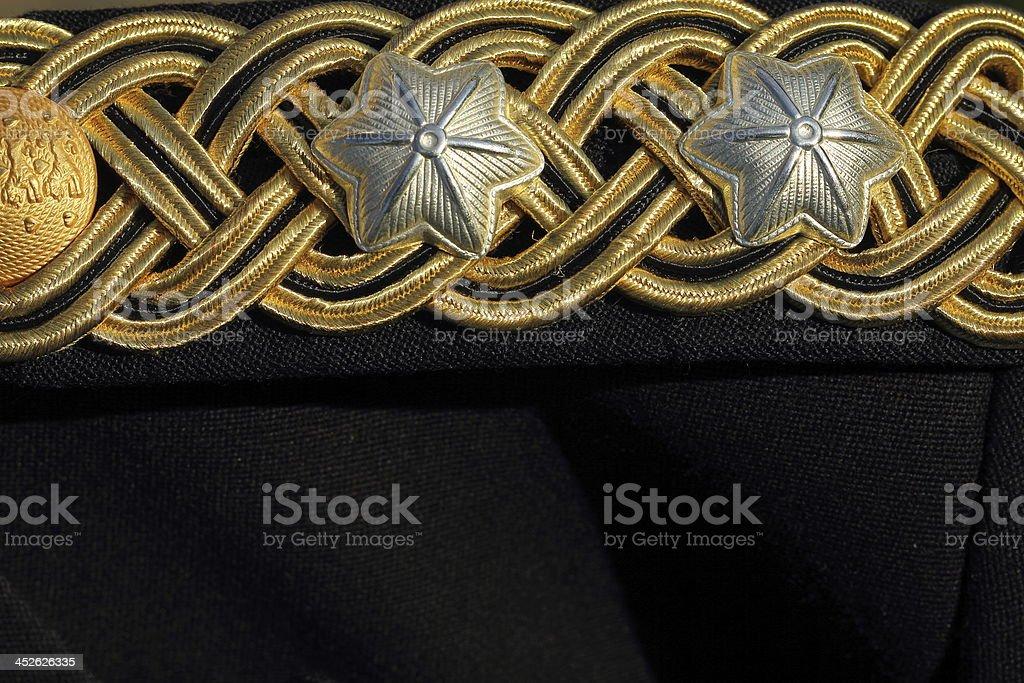Husar cavalry officers dinner jacket uniform royalty-free stock photo