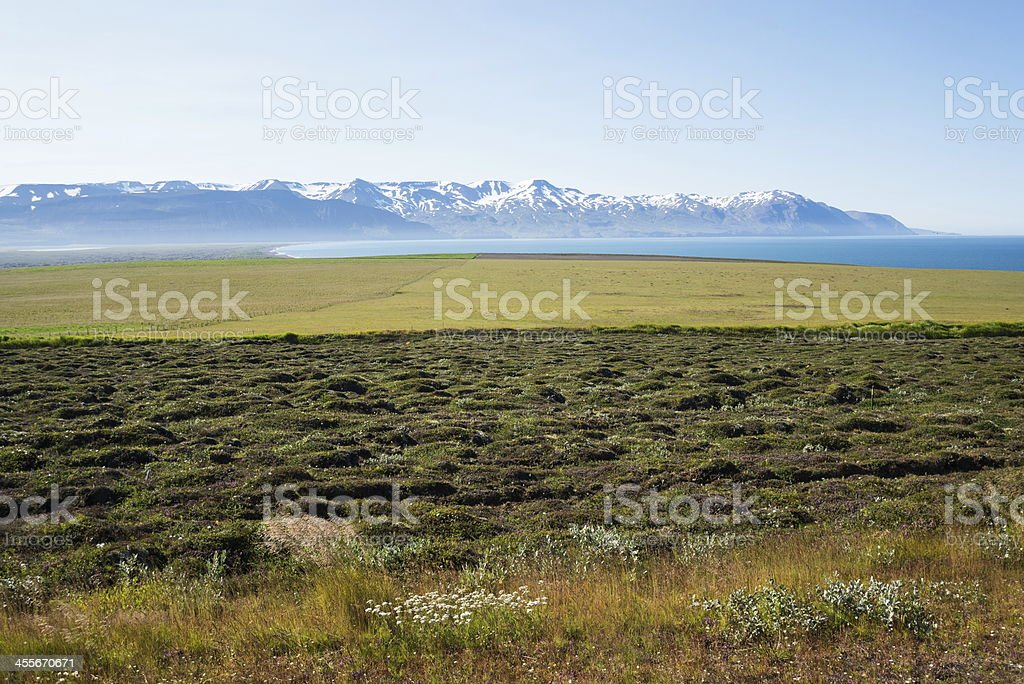 Husavik bay stock photo
