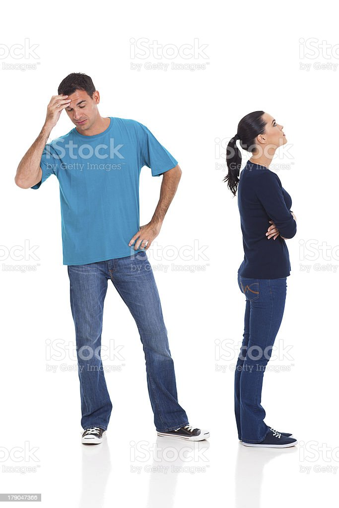 husband and wife arguing royalty-free stock photo