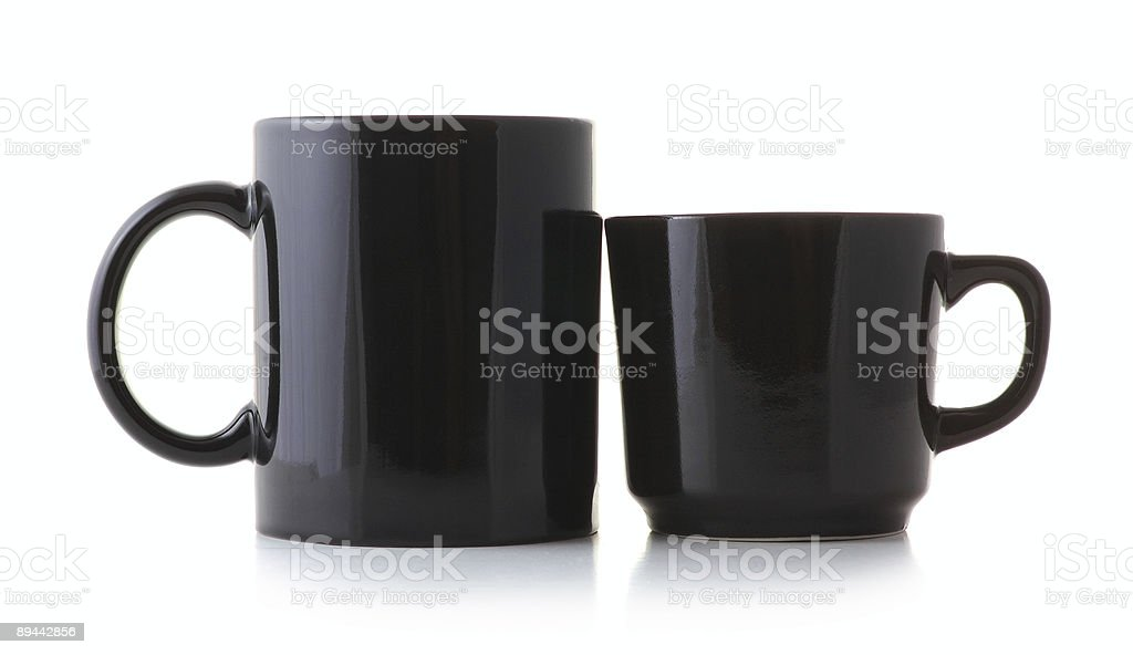 husband and wife cups royalty-free stock photo