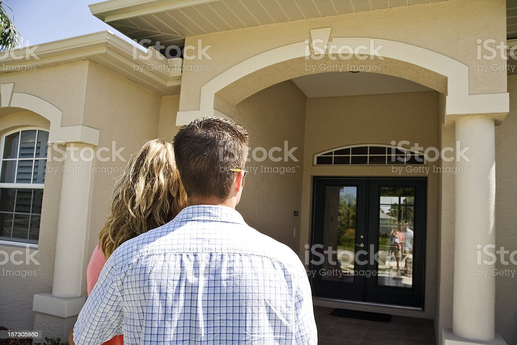 husband and wife new house shopping royalty-free stock photo