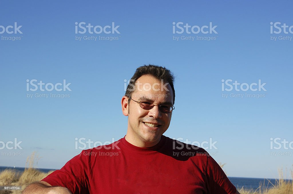 Husband in Red royalty-free stock photo