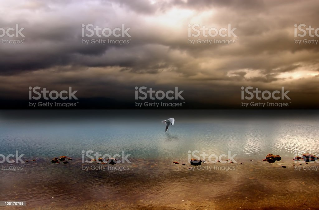 Hush Before The Storm stock photo