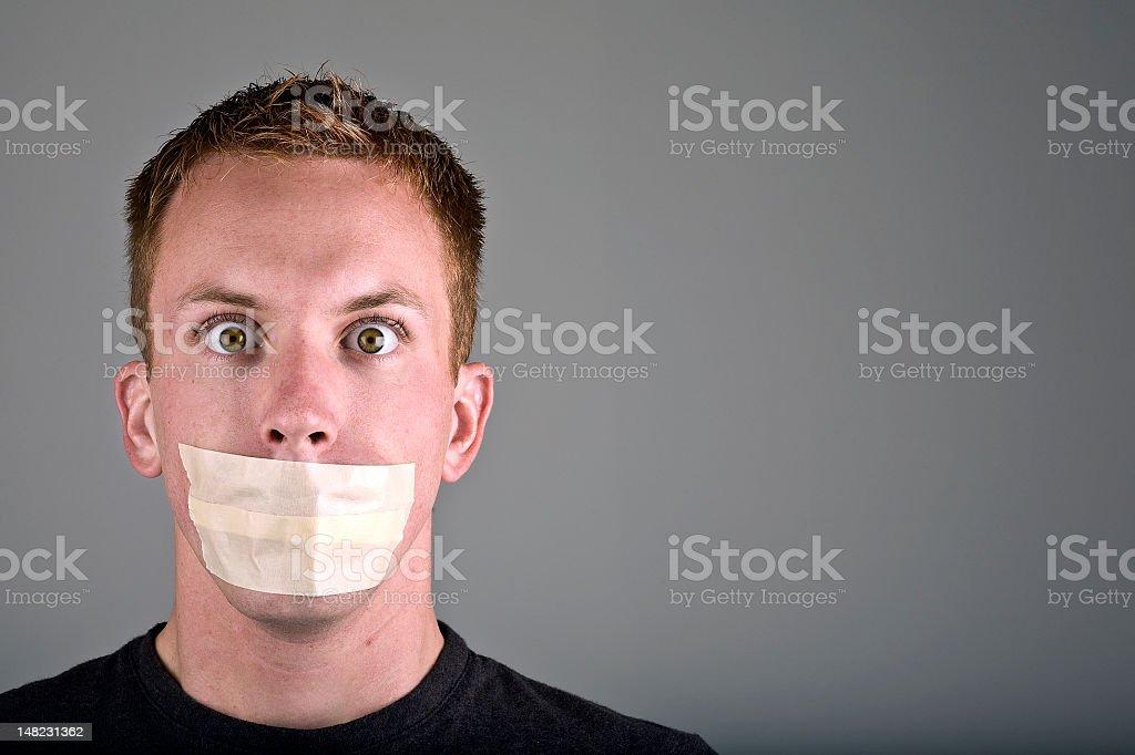 Hush royalty-free stock photo