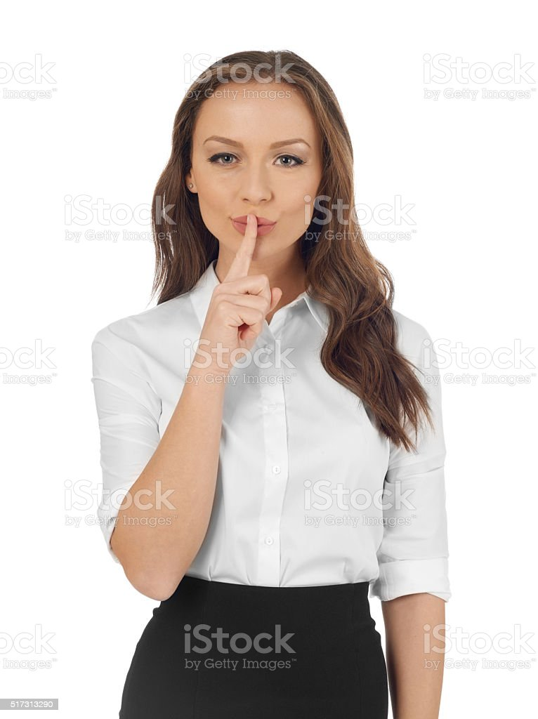 Hush stock photo