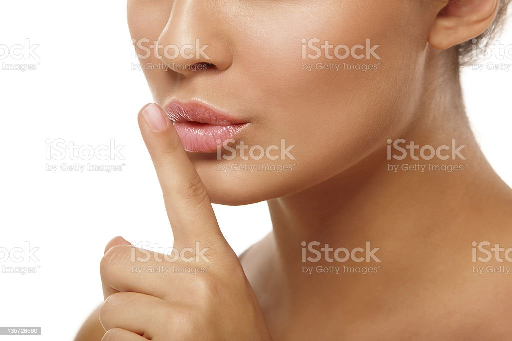 Hush-hush stock photo