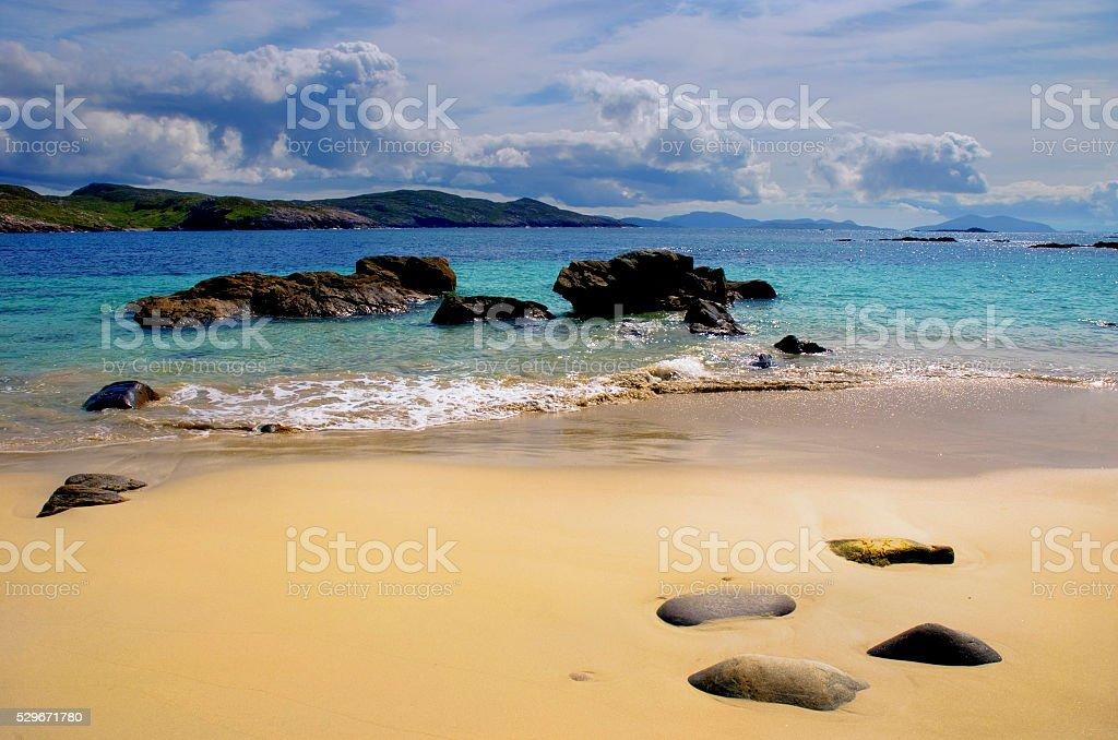 Hushinish Beach Isle of Harris Outer Hebrides stock photo