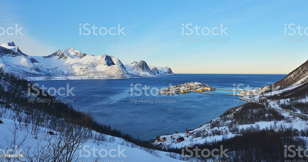Husoy Morning, Senja, Norway stock photo