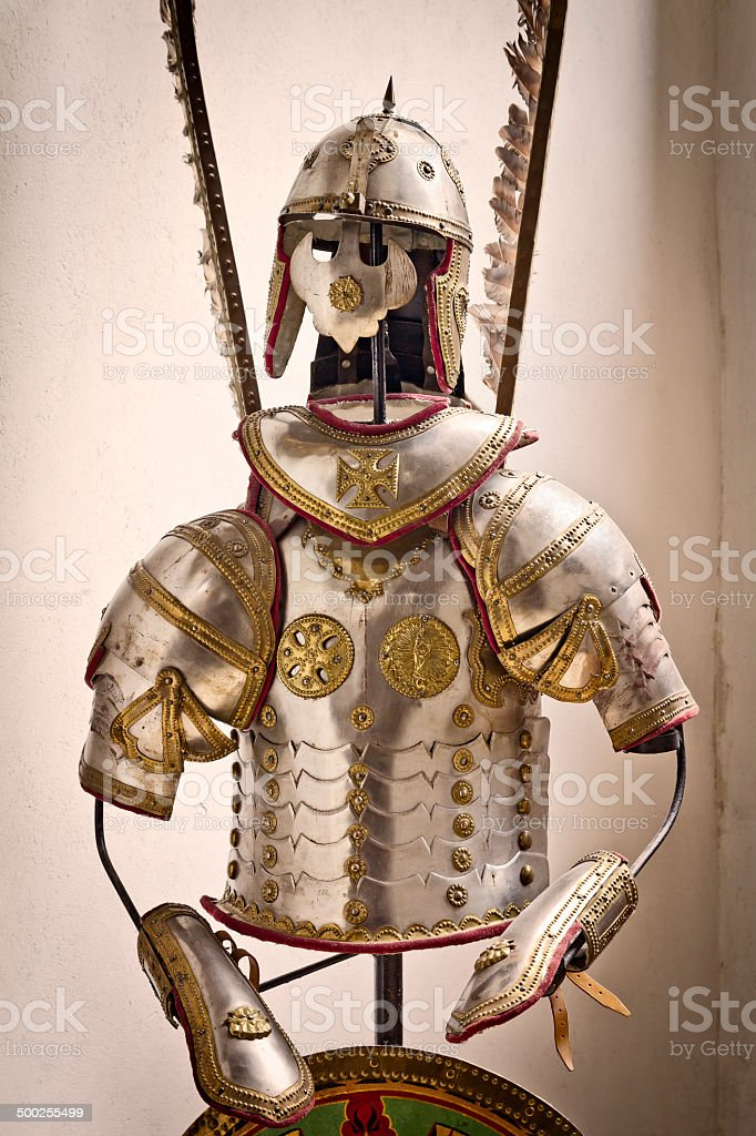 Hussar armor stock photo