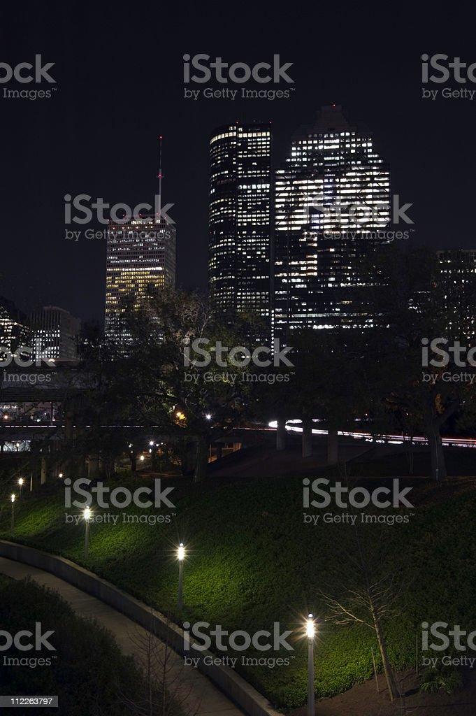 Huston Texas and Park night royalty-free stock photo
