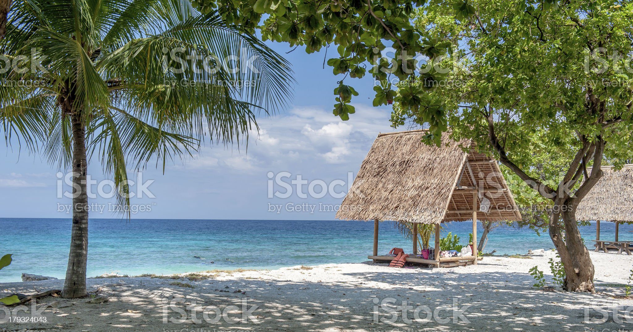 Hut and the sea royalty-free stock photo