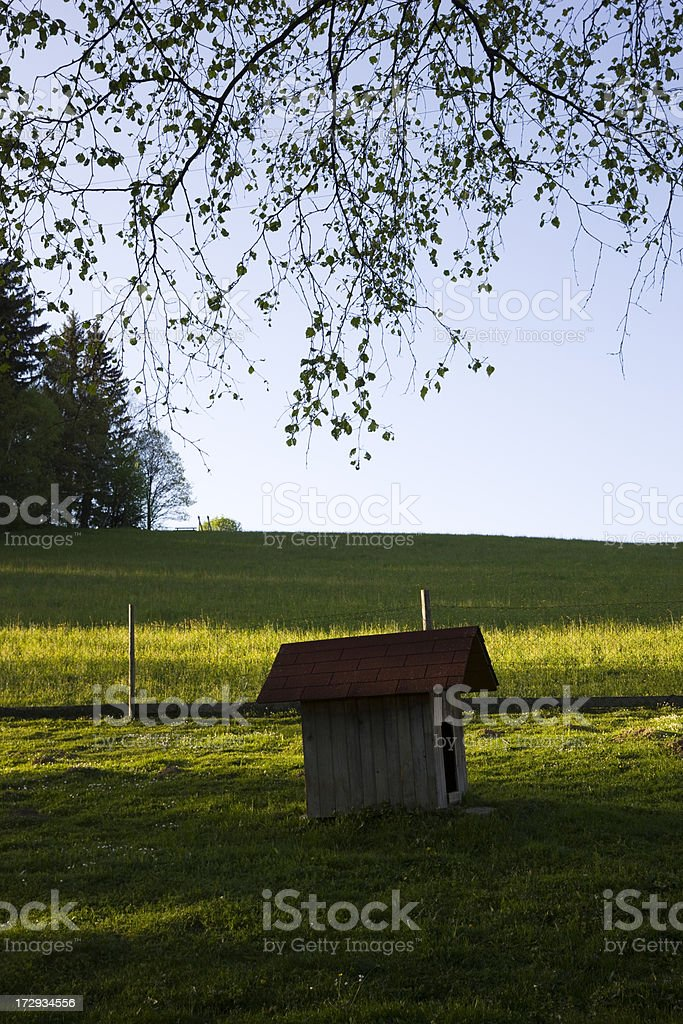 Hut for goat royalty-free stock photo