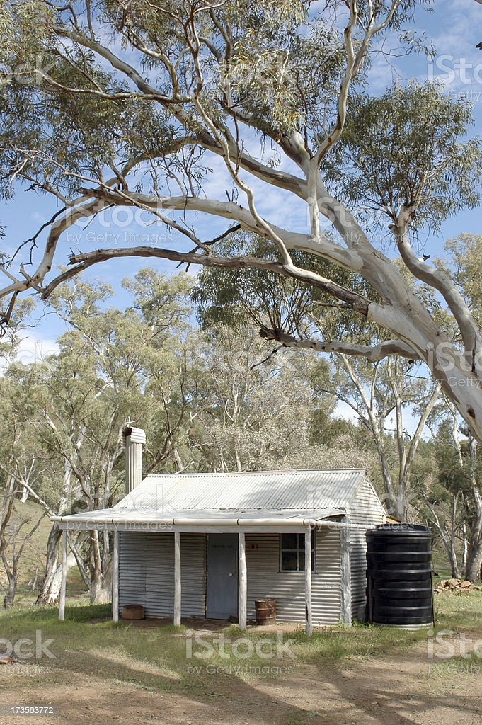 Hut in Flinders Ranges, South Australia stock photo
