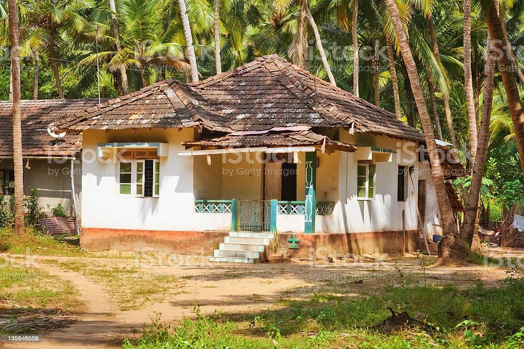 Hut in Goa stock photo