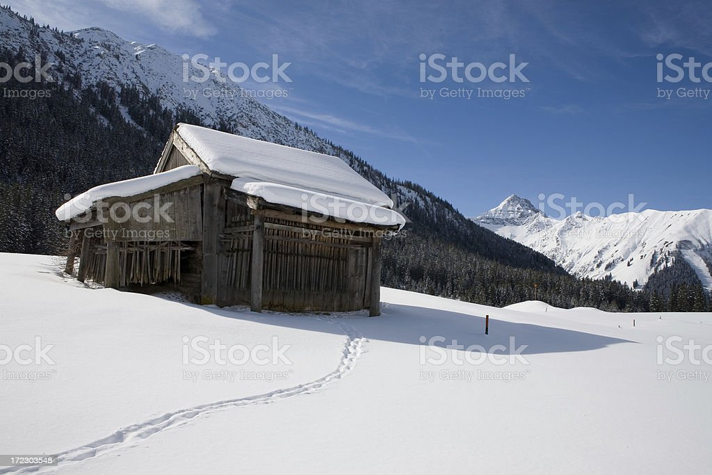 hut in namlos royalty-free stock photo