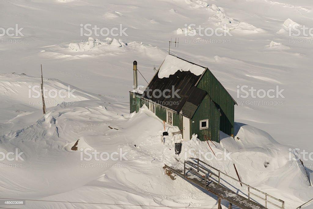 Hut in Sisimiut stock photo