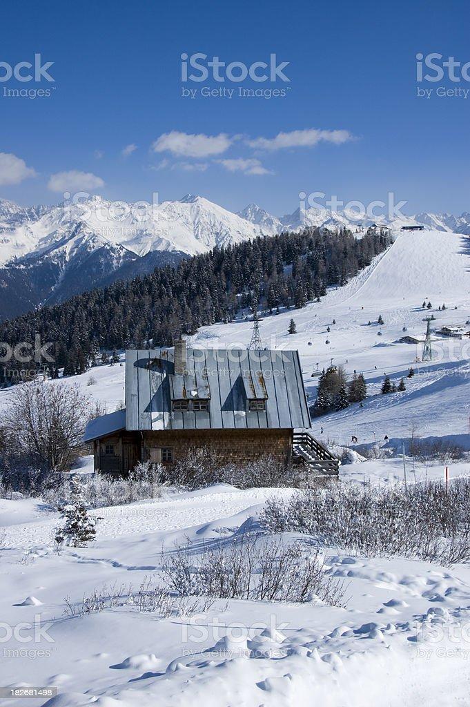 hut in the Austrian Alps stock photo