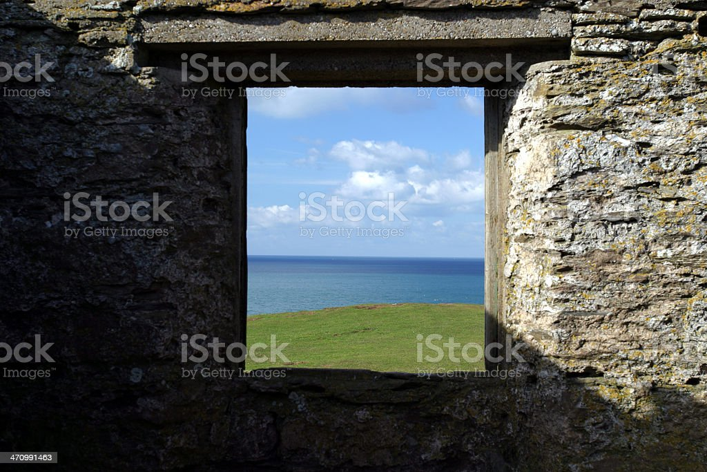Hut with a view royalty-free stock photo