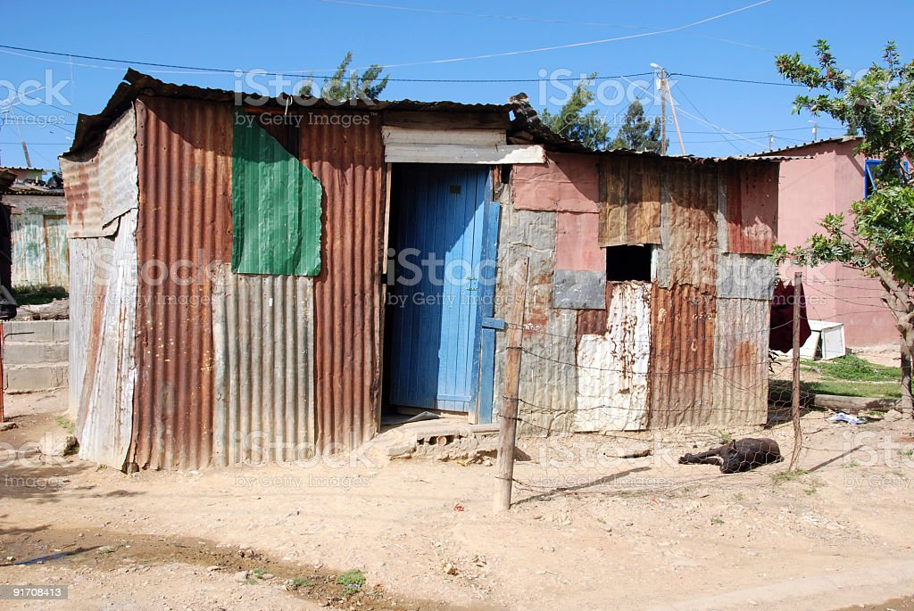 Hut with Blue Door. royalty-free stock photo