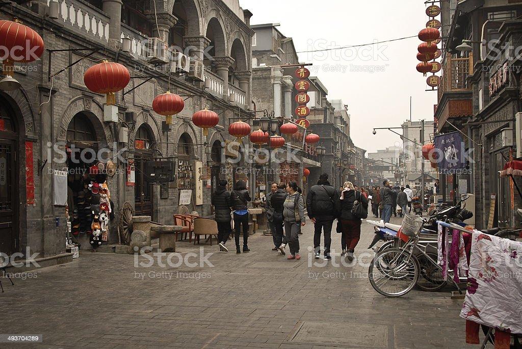 Hutong in Beijing, China stock photo