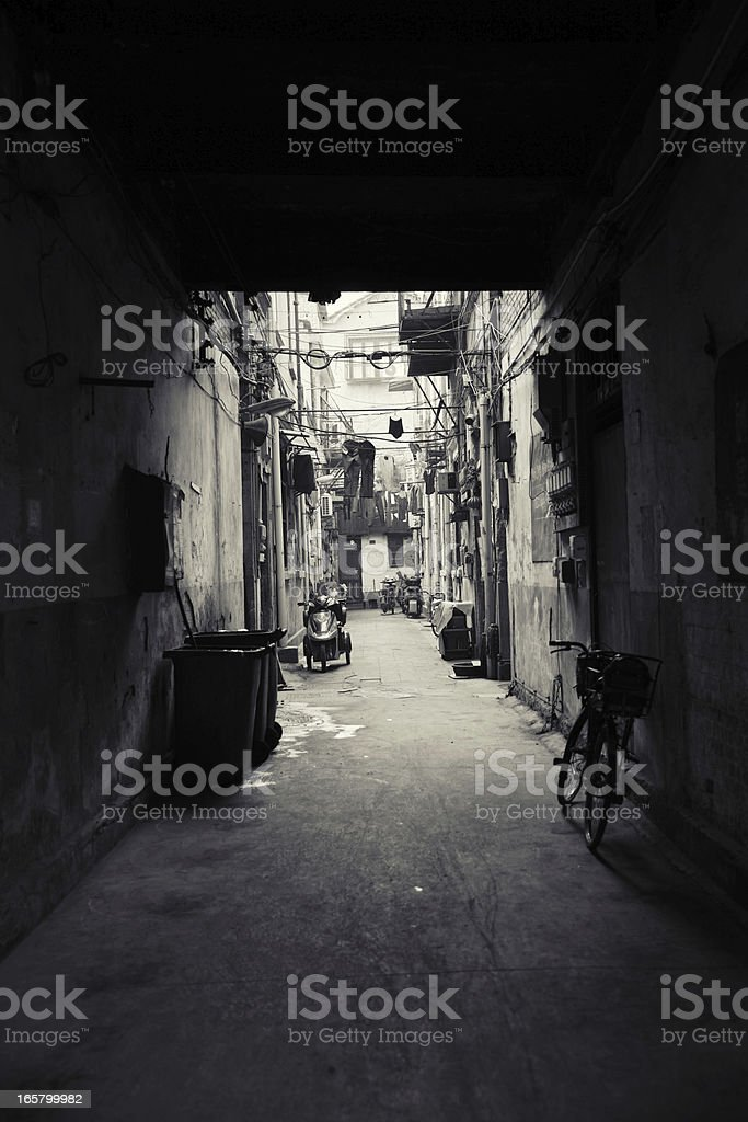 Hutong in Beijing royalty-free stock photo