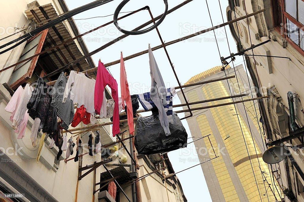 Hutong in Shanghai royalty-free stock photo