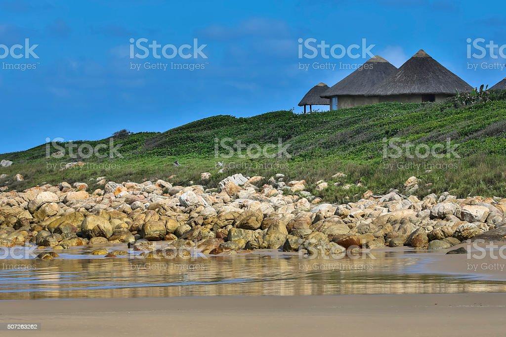 Huts in the Transkei stock photo