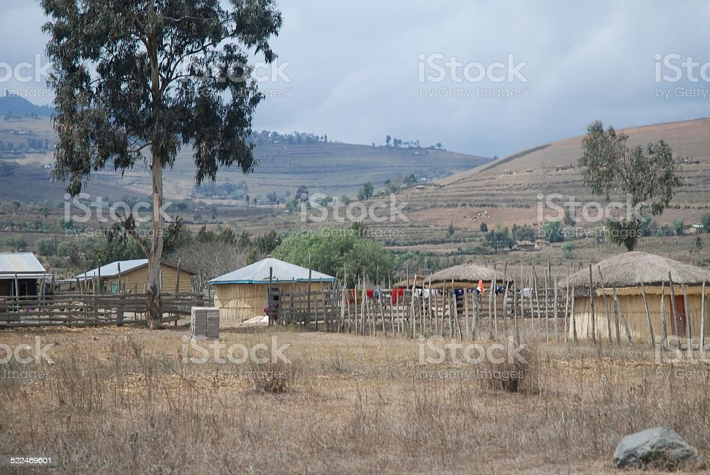 Huts royalty-free stock photo
