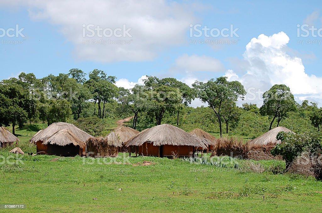 Huts Village - Zambia stock photo