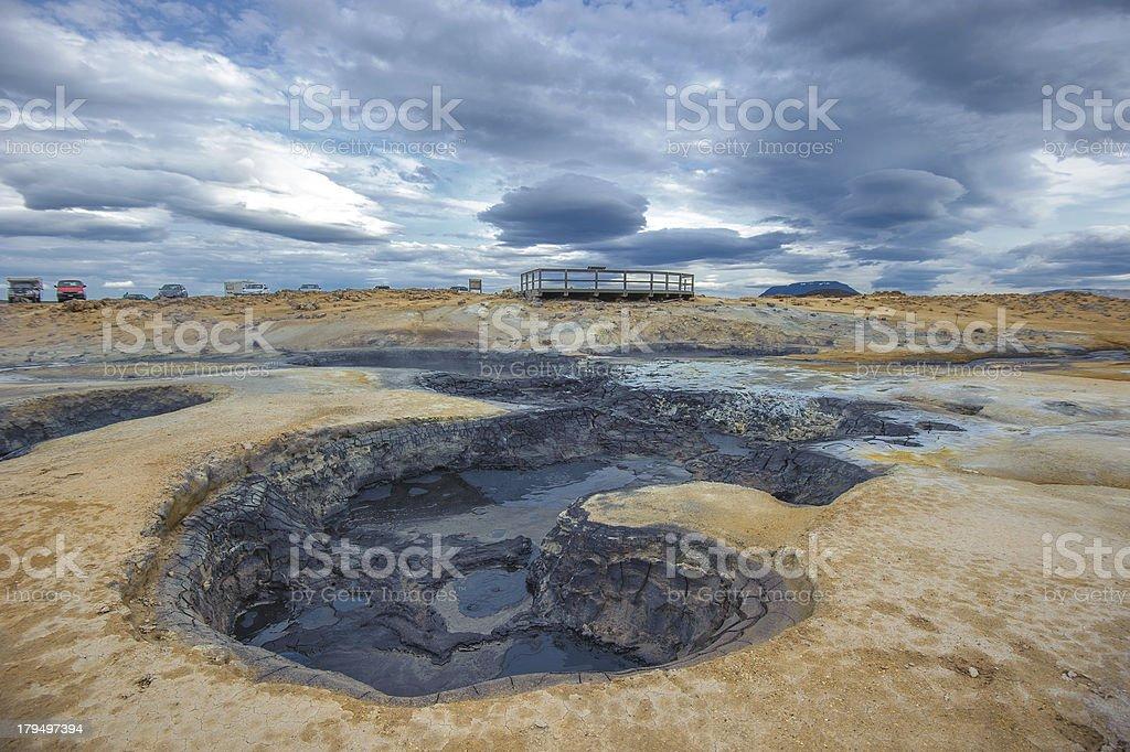 Hverarondor Hverir hot springs, Iceland royalty-free stock photo