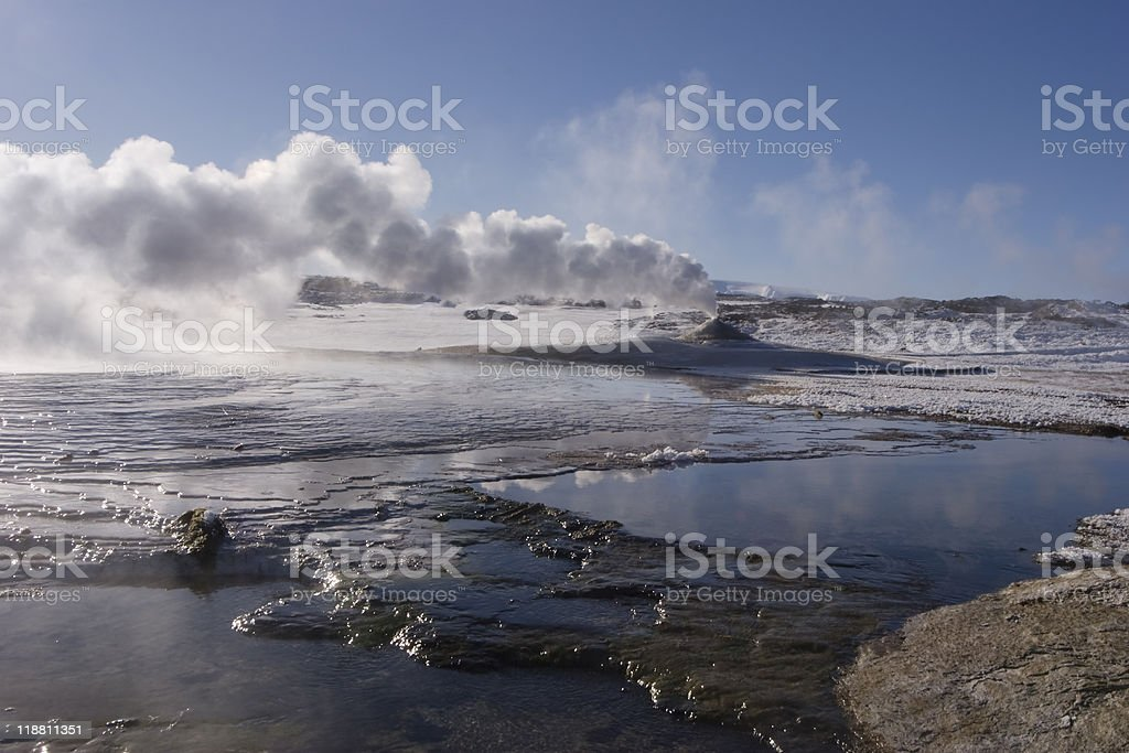 Hveravellir oasis in the highlands royalty-free stock photo