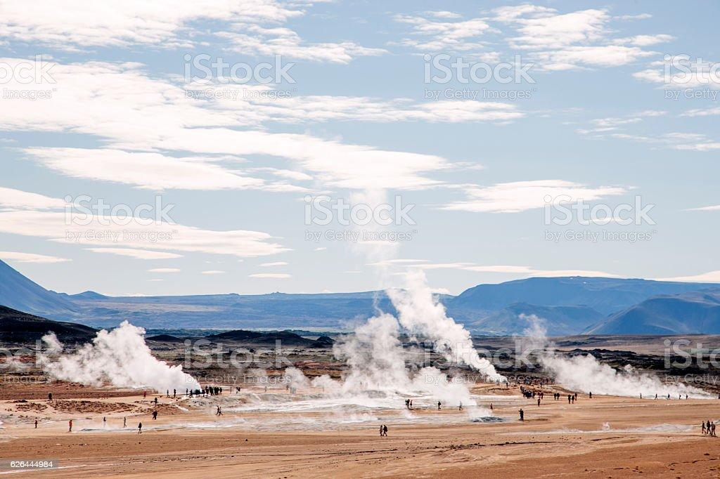 Hverir Hverarönd, fumaroles Iceland stock photo