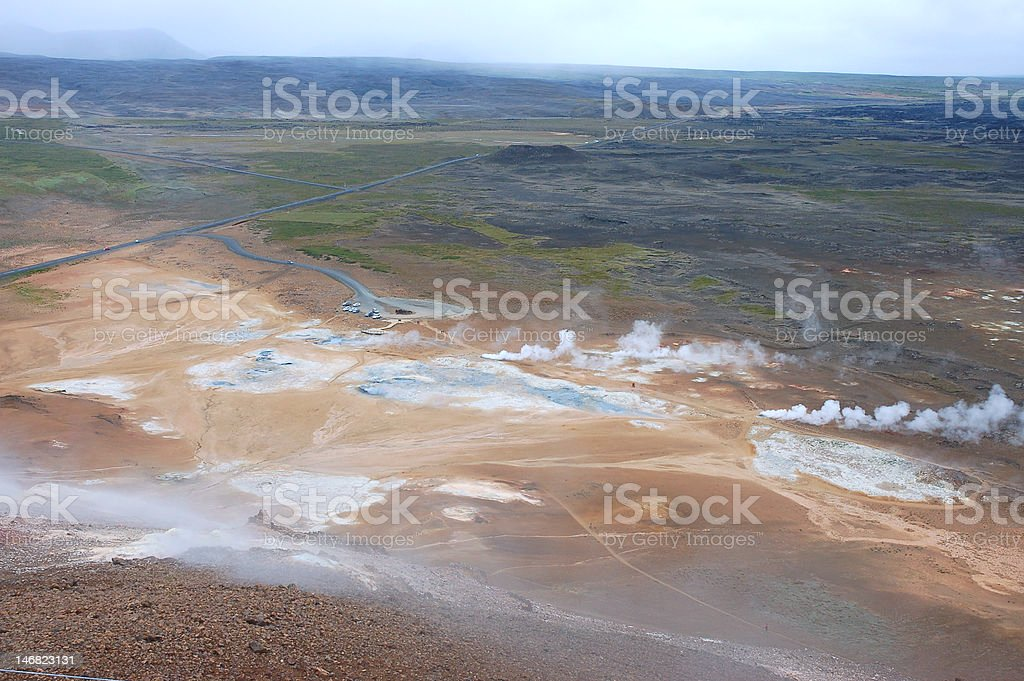 Hverir volcanic area, Iceland royalty-free stock photo