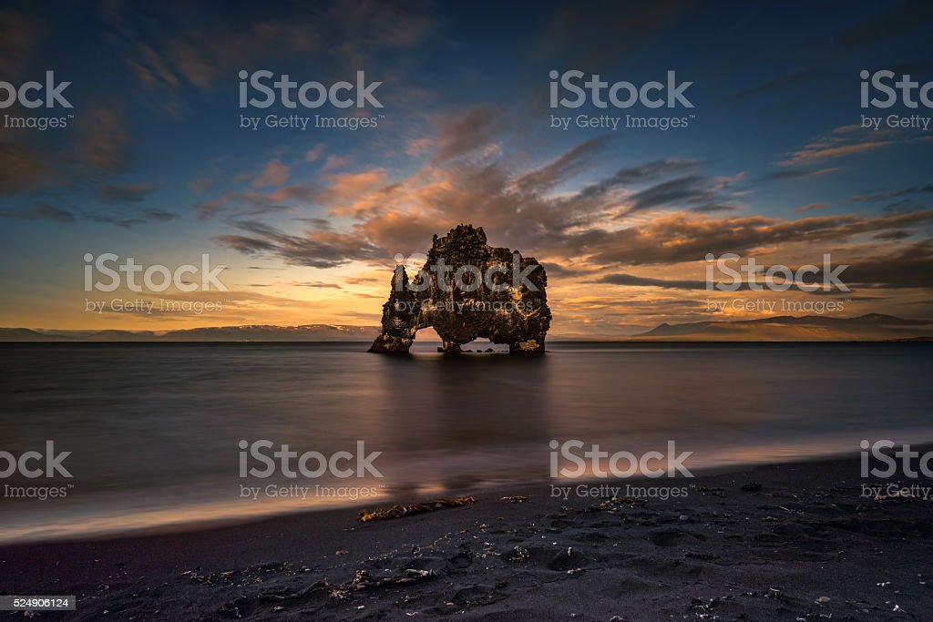 Hvitserkur stock photo