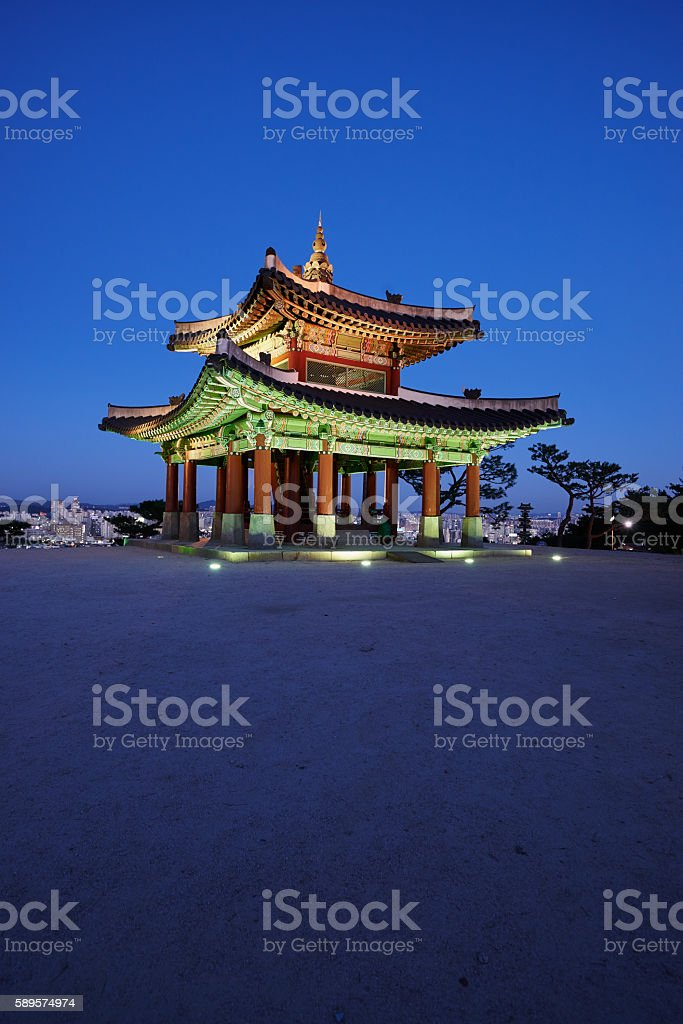 Hwaseong fortress command post stock photo