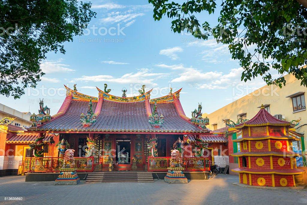 Hwie Ing Kiong, Heritage Temple, Madiun, East Java, Indonesia stock photo